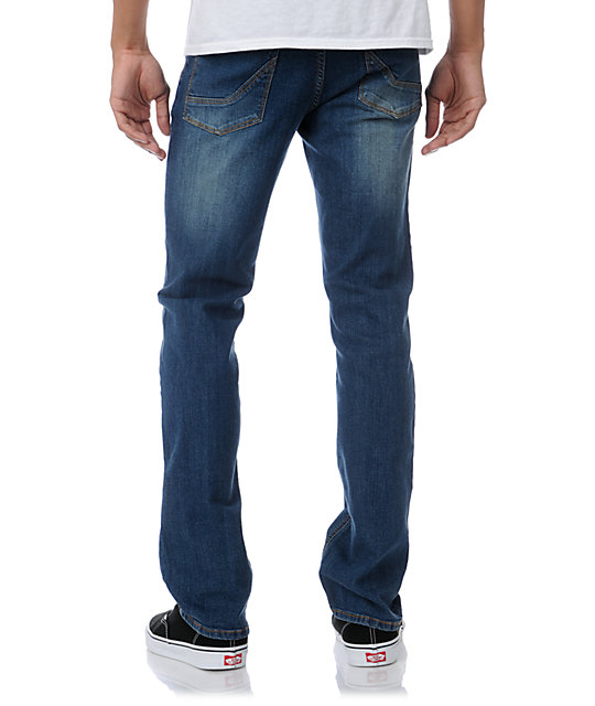 Empyre Skeletor Medium Blue Skinny Jeans