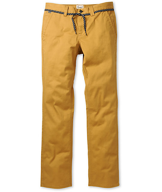 Empyre Skeletor Mustard Skinny Chino Pants
