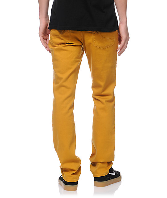 Empyre Skeletor Mustard Yellow Skinny Jeans