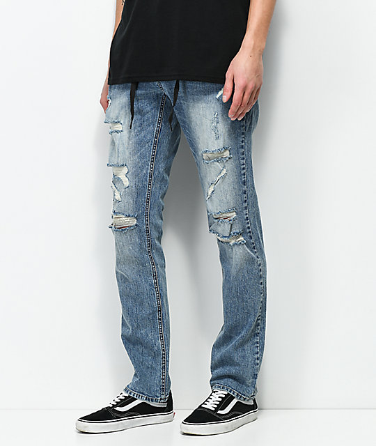 Empyre Skeletor Simon Distressed Skinny Jeans