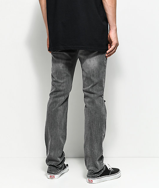 Empyre Skeletor Storm Wash Charcoal Ripped Jeans