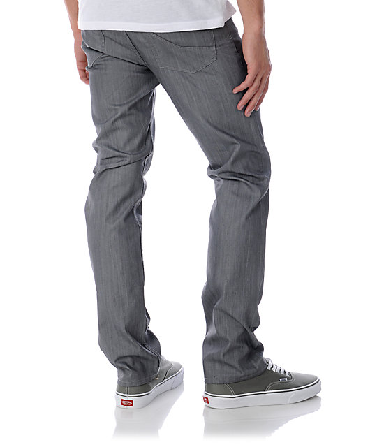 Empyre Skeletor Waxed Grey Slim Jeans