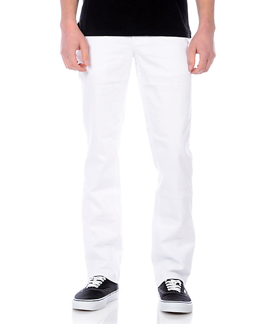 Empyre Skeletor White Slim Jeans