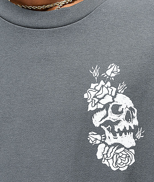 Empyre Skully Rose camiseta de color carbón