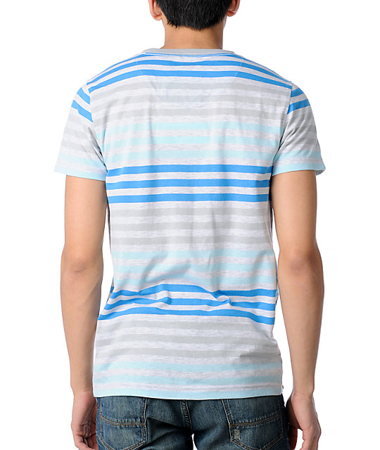 Empyre Slick Blue Stripe T-Shirt