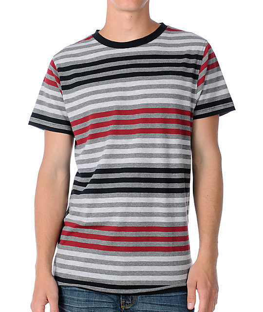 Empyre Slick Mens Red Knit T-Shirt