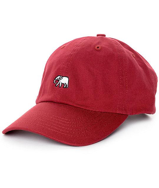 9e23c3ed7c117 Empyre Solstice Elephant Burgundy Baseball Hat
