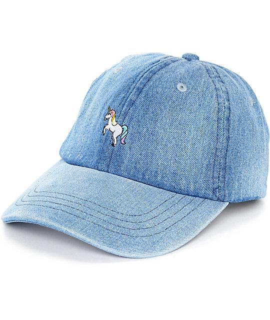 Empyre Solstice Unicorn Denim Baseball Hat  211462a754f