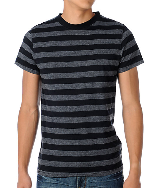 Empyre Space Jam Black & Grey Stripe T-Shirt