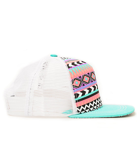 ... Empyre Spirit Pink Tribal Print Trucker Hat Zumiez shop c5143 c942f ... 11f9bdd186a4