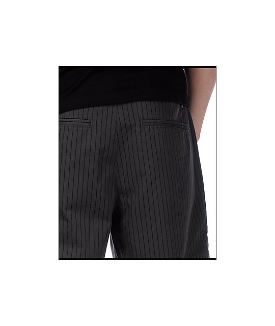 Empyre Standard Issue Pinstripe Charcoal Shorts