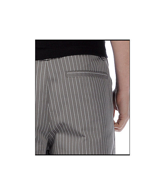 Empyre Standard Issue Pinstripe Grey Shorts