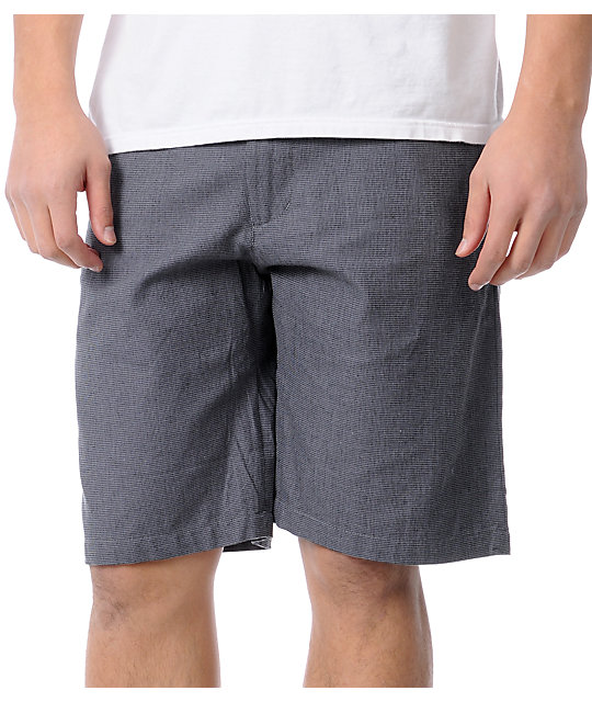 Empyre Status Black Basket Weave Shorts