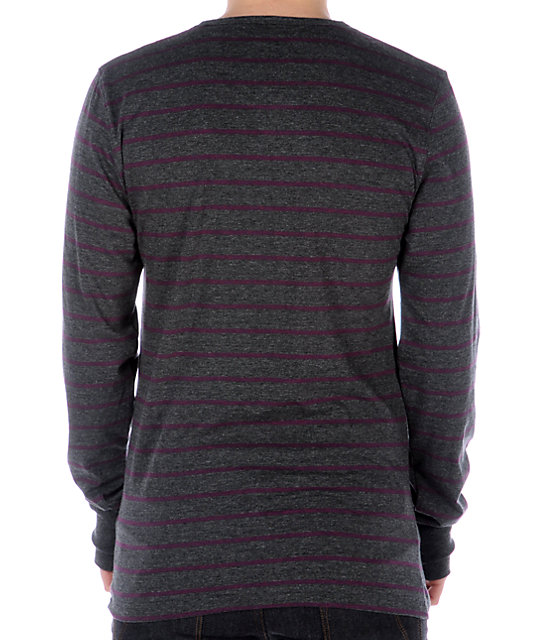 Empyre Subzero Grey & Purple Henley