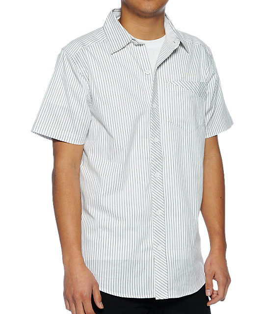 Empyre Suit White Pinstripe Woven Shirt