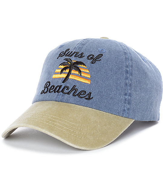 Empyre Suns Of Beaches Blue & Tan Strapback Hat