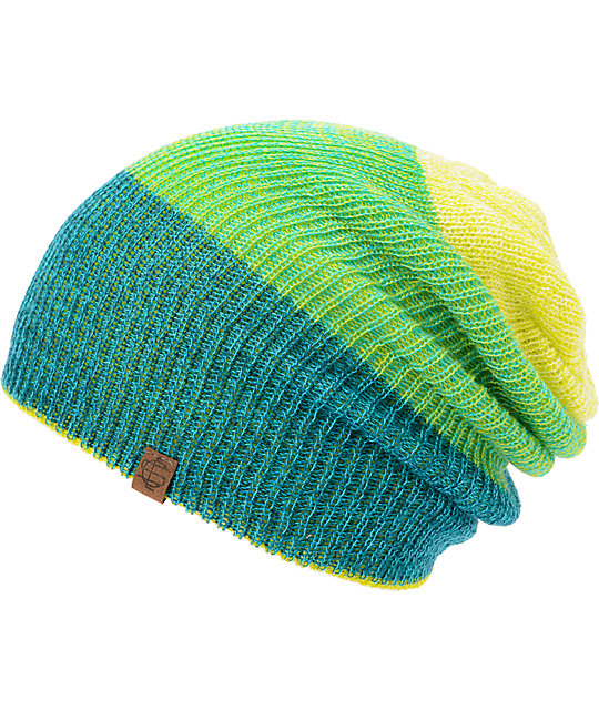 fcb2f28d251 Empyre Tabor Neon Lime Green Reversible Beanie