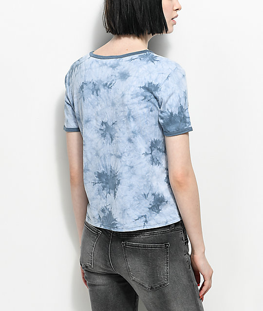 Empyre Take It Easy camiseta azul con efecto tie dye