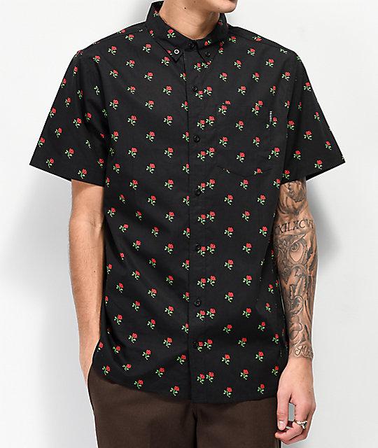 81278b1fb265b Empyre Tate Black Short Sleeve Button Up T-Shirt