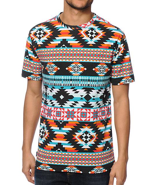 7f355605 Empyre Tex Tribal Print T-Shirt | Zumiez