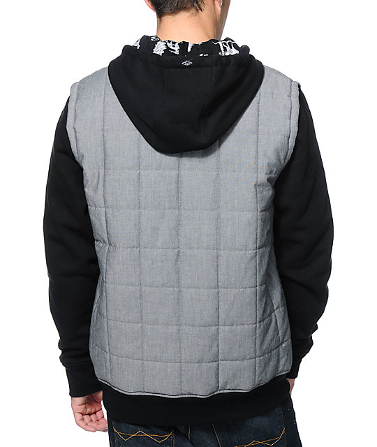 Empyre The Craft Charcoal & Black Vest Hoodie