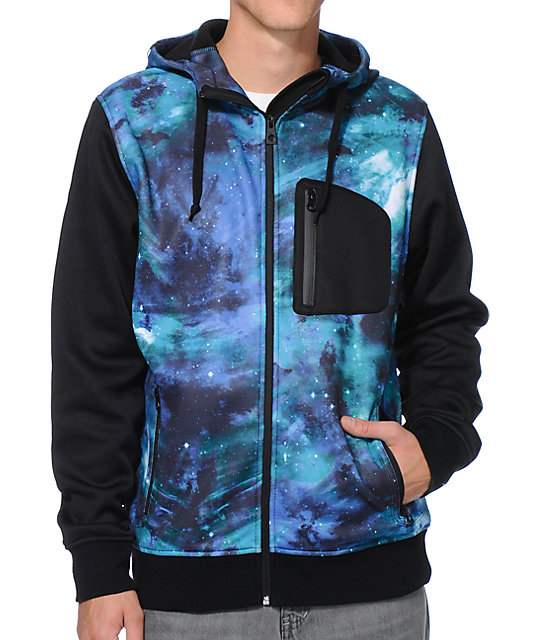 Empyre The Riot Space Black Hooded Tech Fleece Jacket