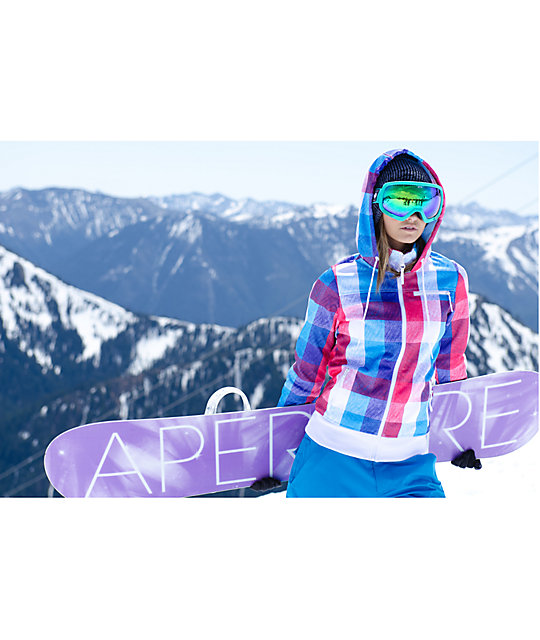 Empyre Timber Pink & Blue Plaid Tech Fleece Jacket