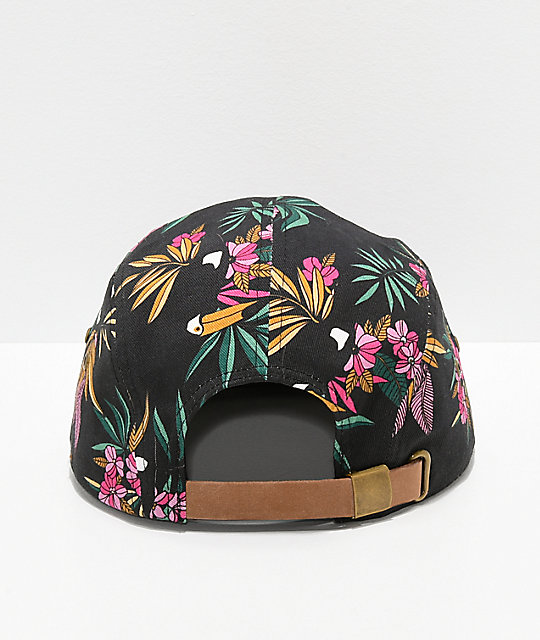 Empyre Toucan Black Five Panel Strapback Hat