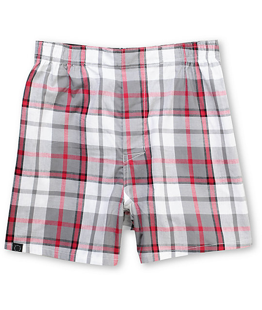 Empyre Trader Red Plaid Boxers