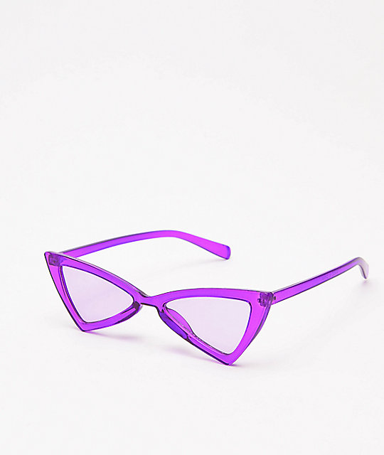 Empyre Transluscent Purple Bowtie Sunglasses