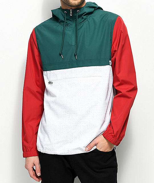 Empyre Transparent White, Red & Green Anorak Jacket