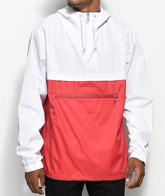 3f724acf7 Empyre Transparent White & Red Anorak Jacket