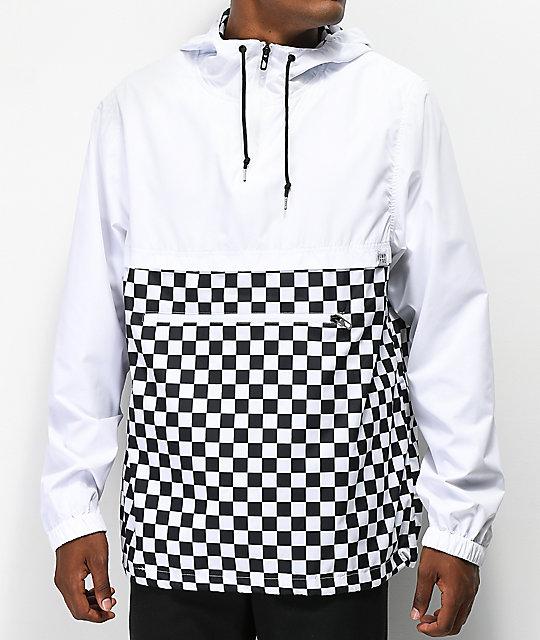 710710236 Empyre Transparent White Checkered Anorak Jacket