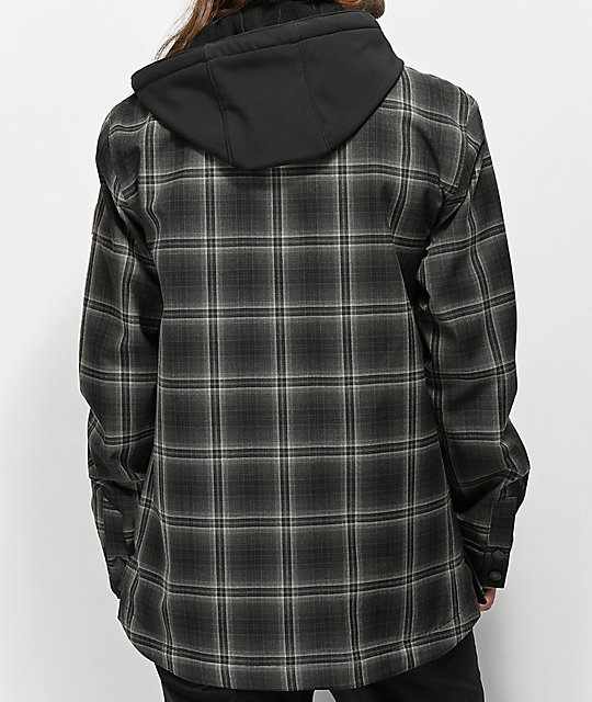 Empyre Traversed Charcoal Plaid 10K Snowboard Jacket
