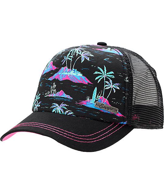 838945c316ea6 Empyre Tropical Black Trucker Snap Back Hat