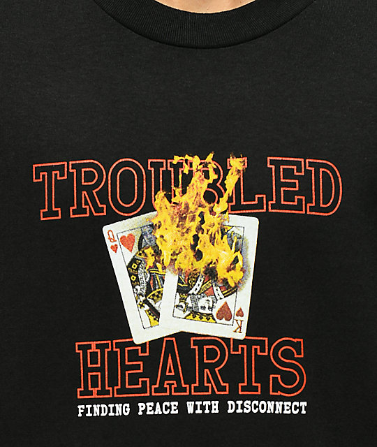 Empyre Troubled Hearts Black T-Shirt