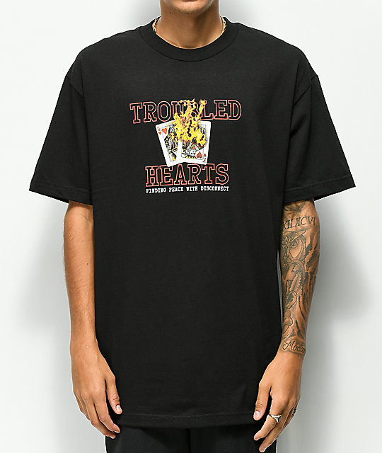 Empyre Troubled Hearts camiseta negra