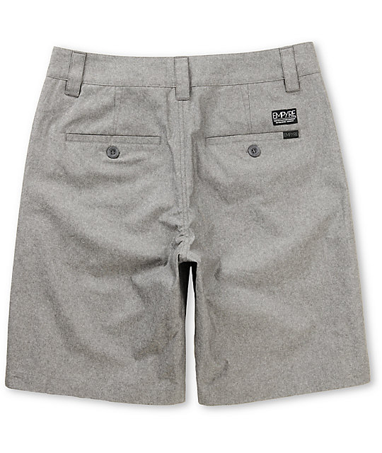 Empyre Tryst Grey Chambray Chino Shorts