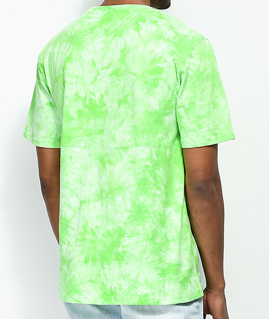 Empyre Two Faced camiseta verde con efecto tie dye