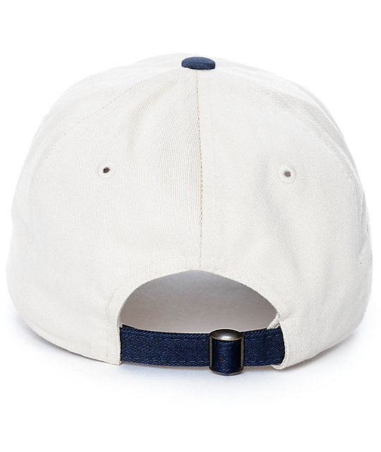 Empyre Untouchable Cream & Navy Strapback Hat