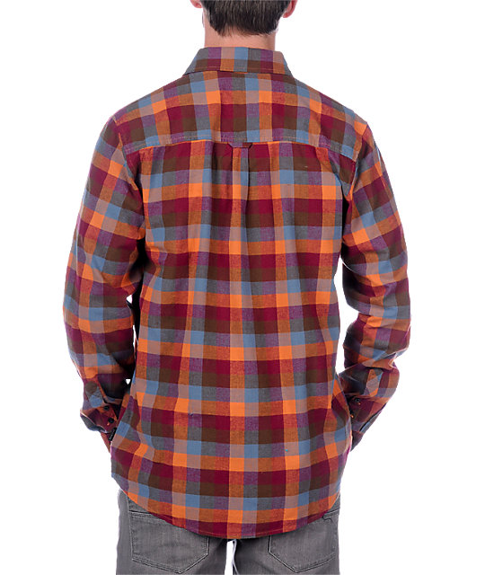 Empyre Urban Cowboy Red Long Sleeve Woven Shirt