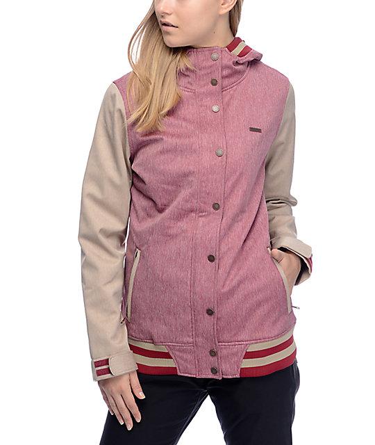 Empyre Varsity Burgundy Khaki 10k Softshell Jacket Zumiez