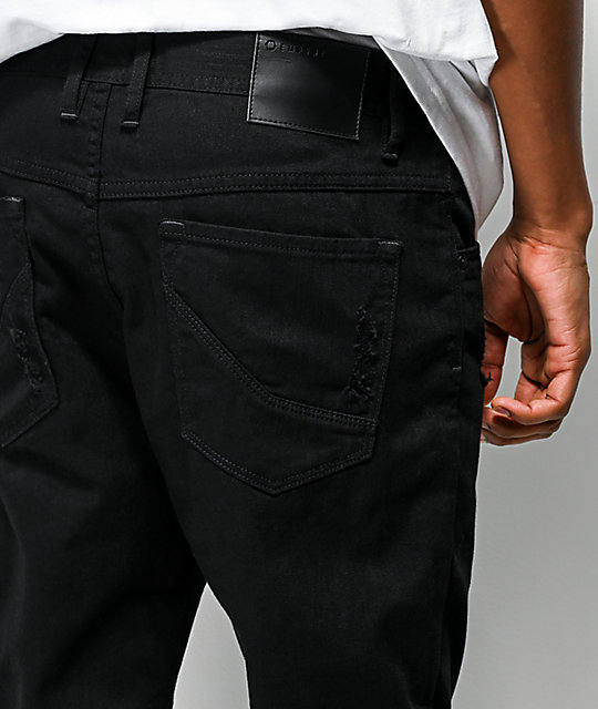 Empyre Verge Black Tapered Skinny Jeans