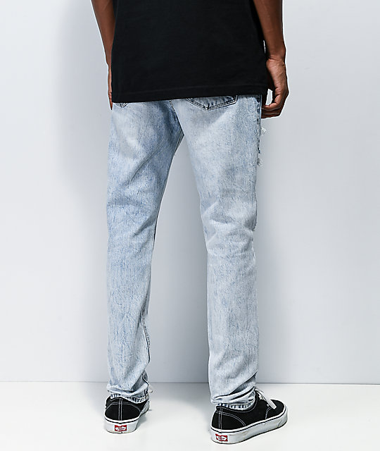 Empyre Verge Kersey Light Wash Tapered Skinny Jeans