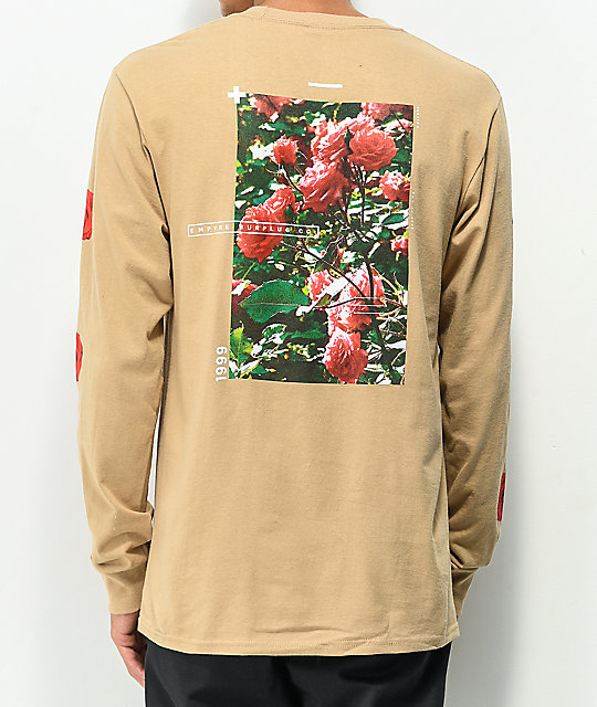 Empyre Vertigo Rose Natural Long Sleeve T Shirt by Empyre