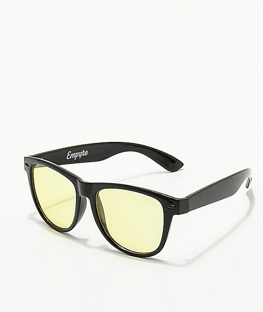 Empyre Vice Basic Black & Yellow Sunglasses