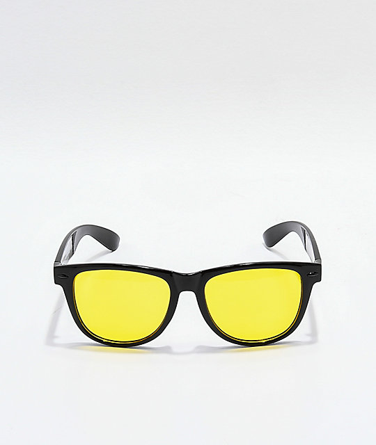Empyre Vice Black & Dark Yellow Sunglasses
