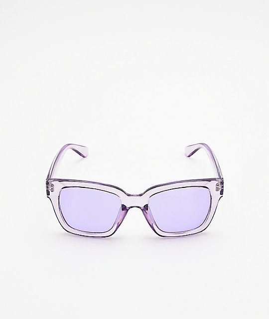 Empyre Viole Transparent Purple Sunglasses