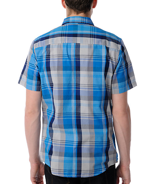 Empyre Wallace Blue Plaid Button Up Shirt