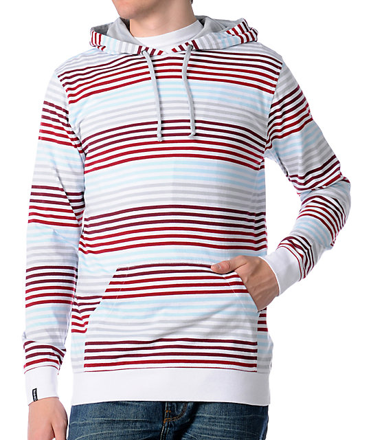 Empyre Warrior Red Stripe Hooded Knit Shirt